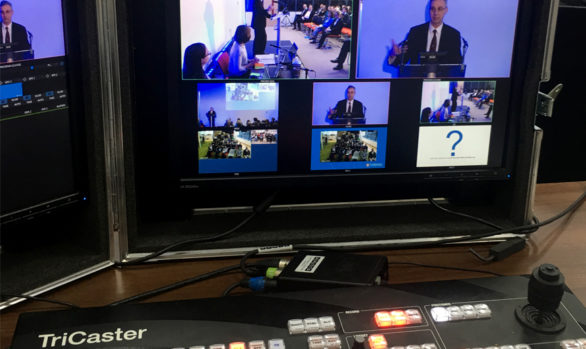 Secure Live Streaming of a CEO's Annual Message